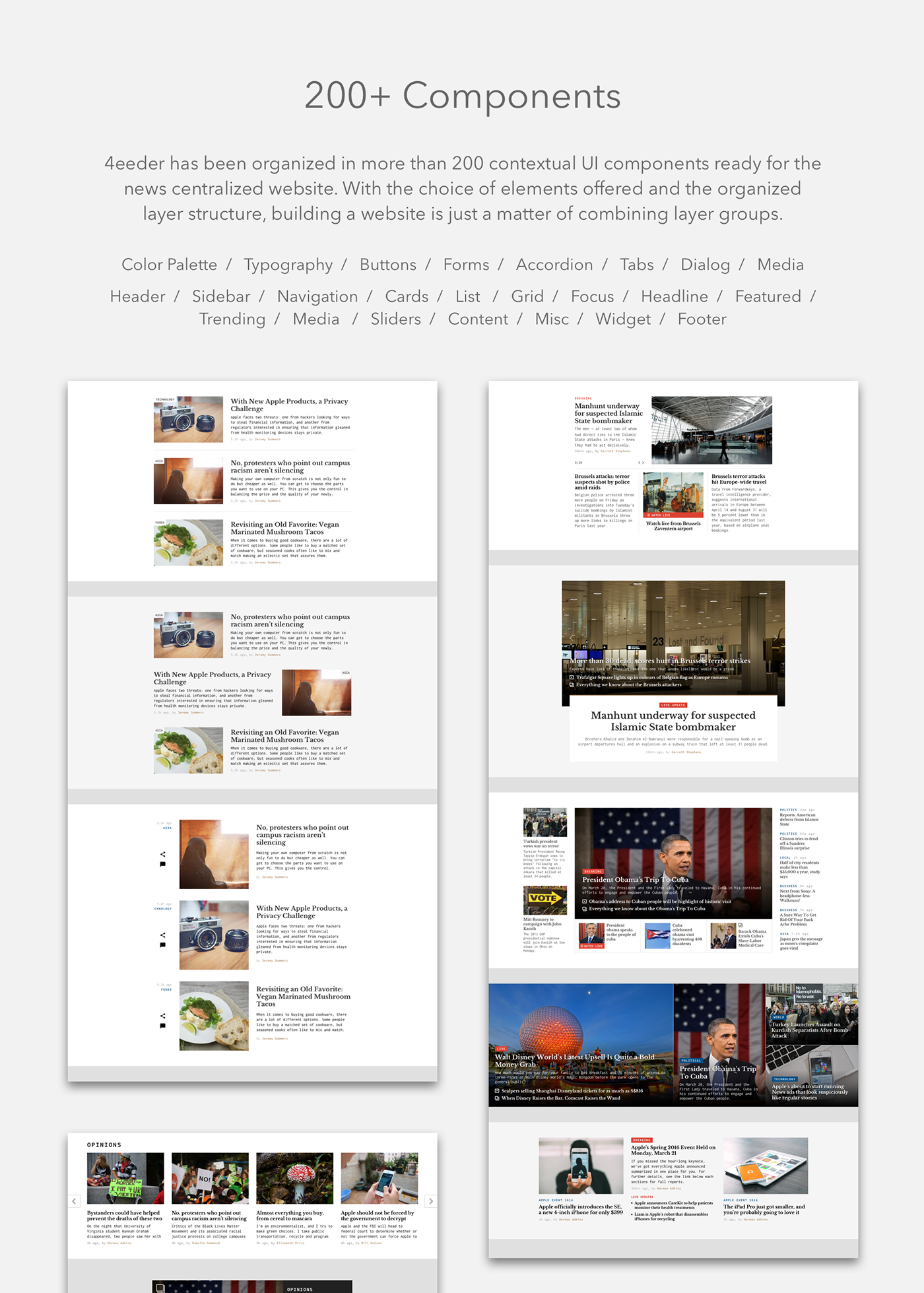 Interface magazine media mobile news press professional Responsive sketch tablet UI ux vector Web Website