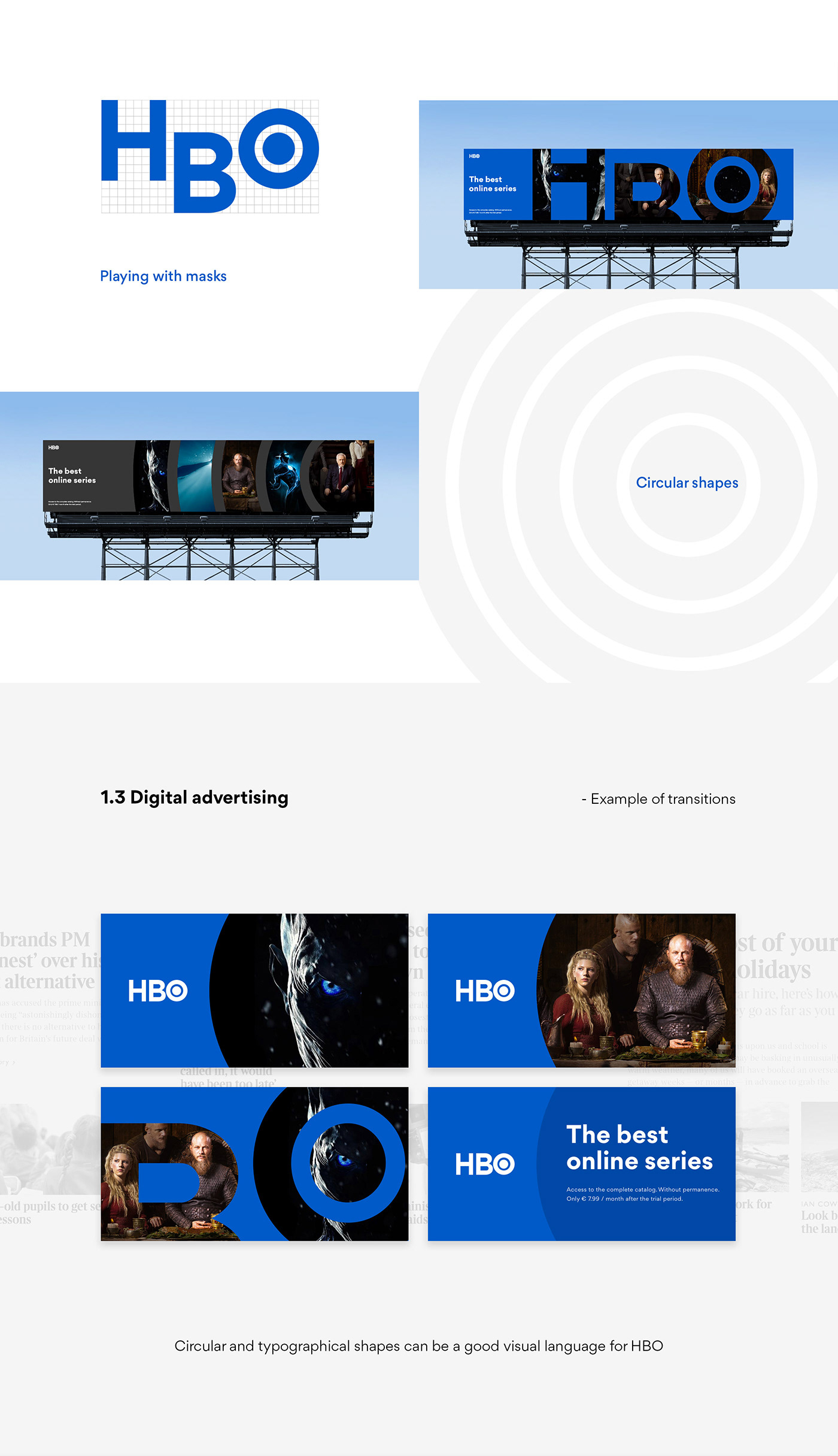 hbo concept brand interaction redesign tv app Rebrand Web RESTYLING