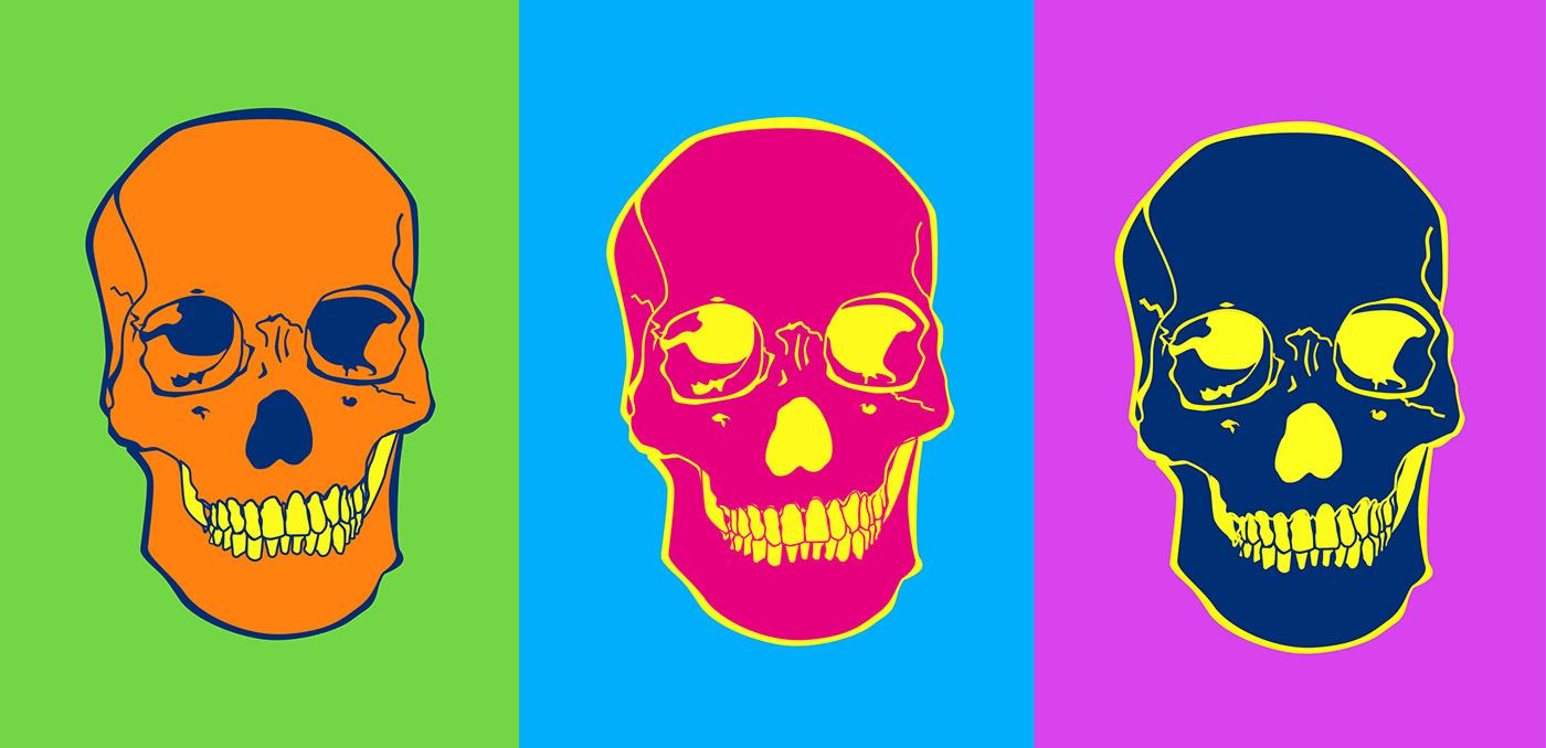 skullartwork desenho de caveira annefreitasdesign Ilustração Vetorial Vectorillustration ArtDirection Direção de arte