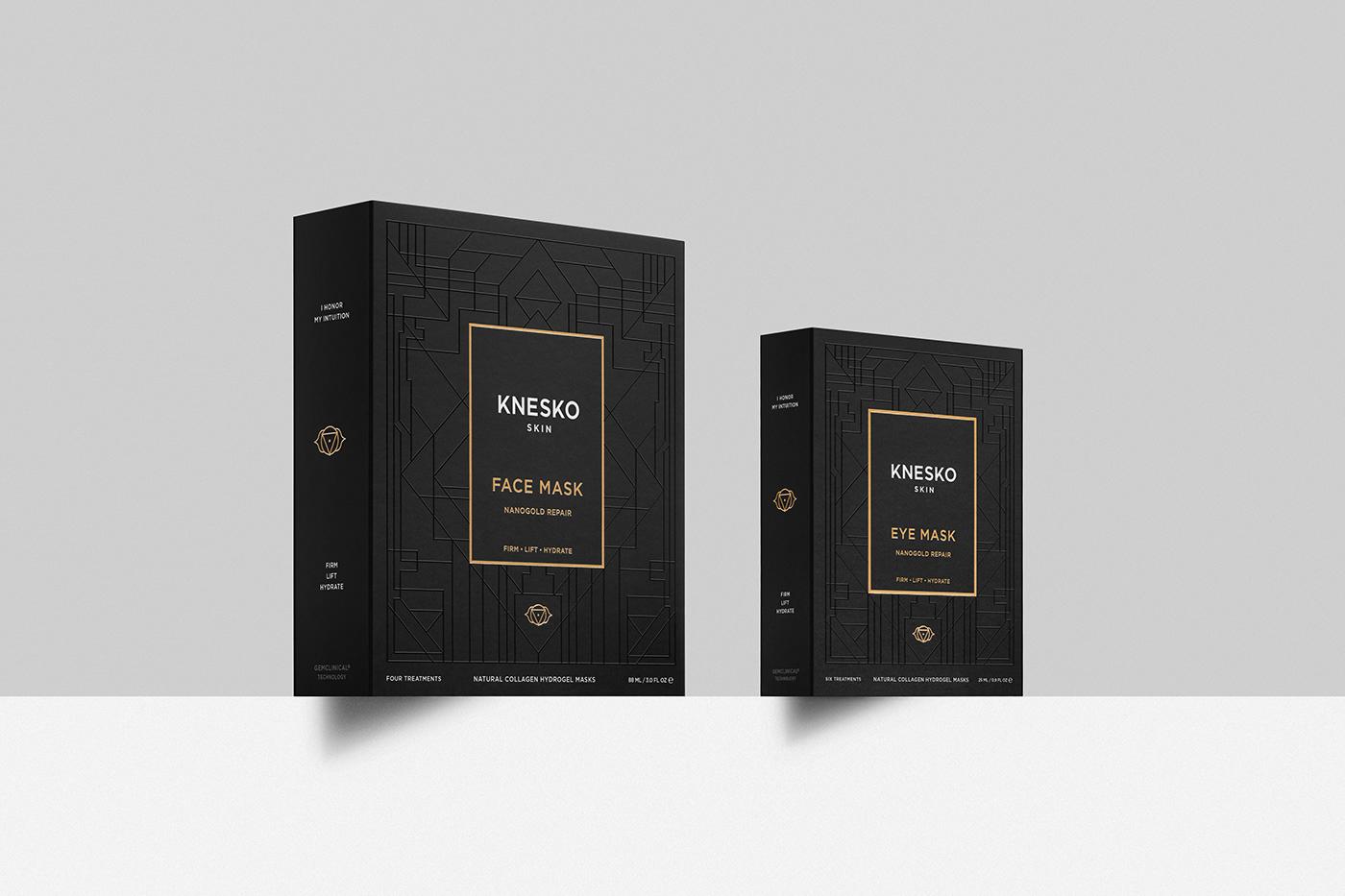 beuty branding  graphicdesign luxury masks Packaging premium print skincare spiritual