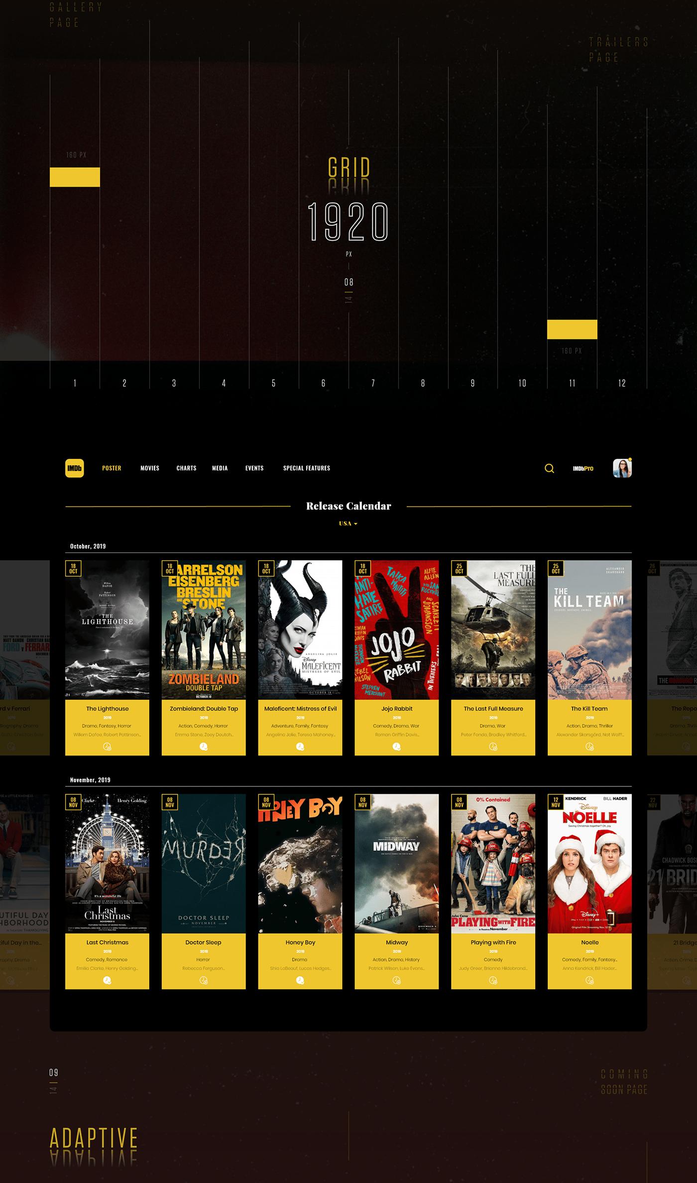 imdb movie films UI ux best top new brand MadeWithAdobeXd