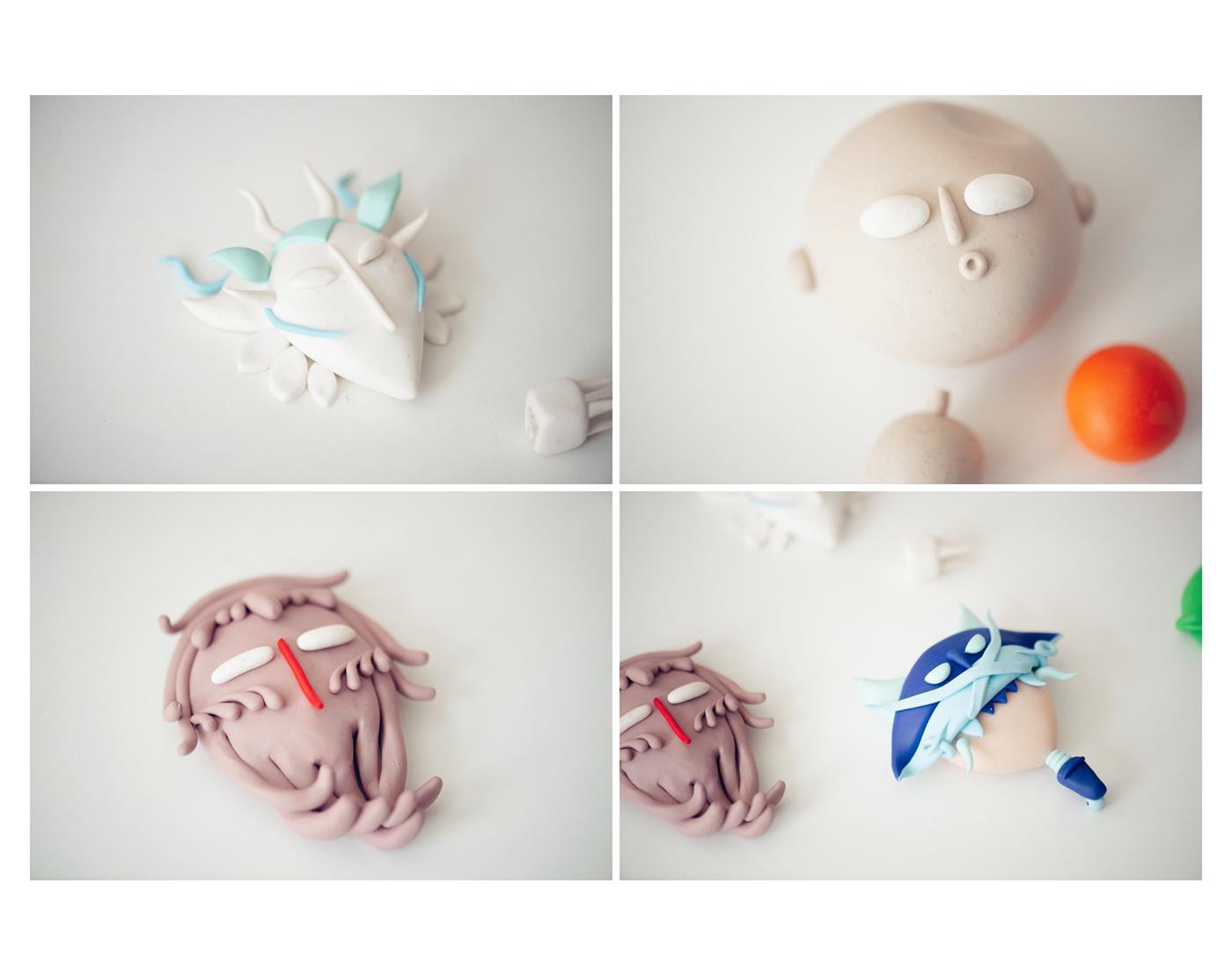 #fimo clay colours ILLUSTRATION  pasticine polymer clay scultpure
