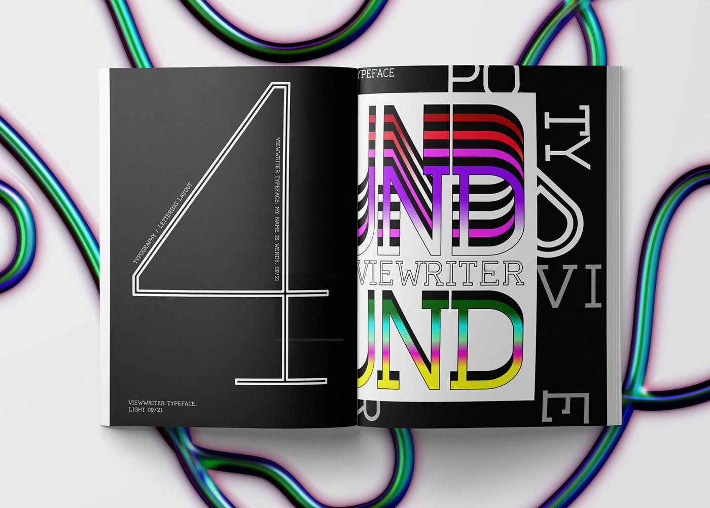 Viewwriter is a typeface created in the software Fontlab dedicated to the creation typography