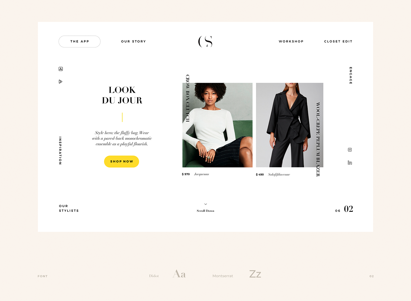 cepistyle Fashion  UI ux Interaction design  Responsive New York Kirill Pavlov Webdesign