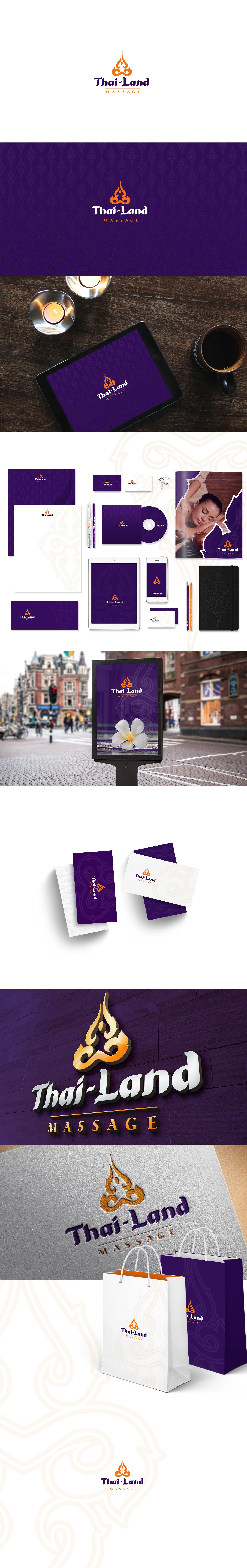 redesign rebranding logo Corporate Identity massage thai massage