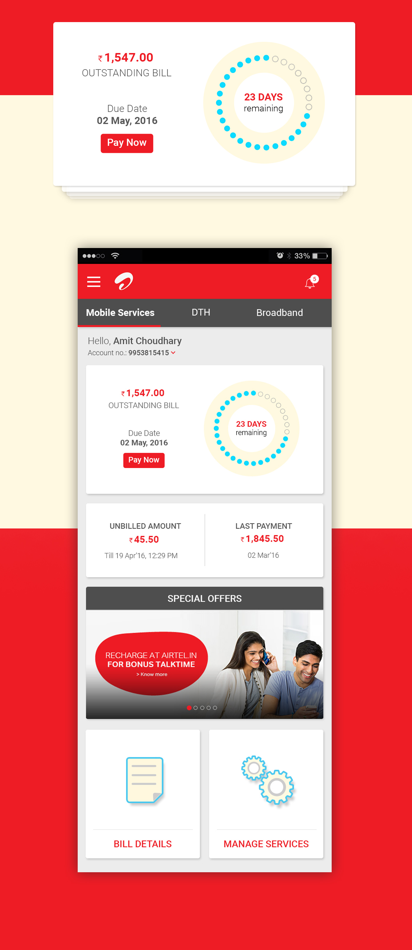how to pay airtel bill online