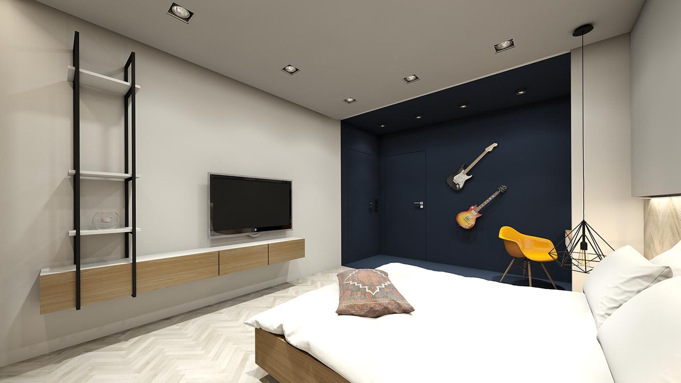 small apartment interior design  colourfull design bucharest apartment industrial design