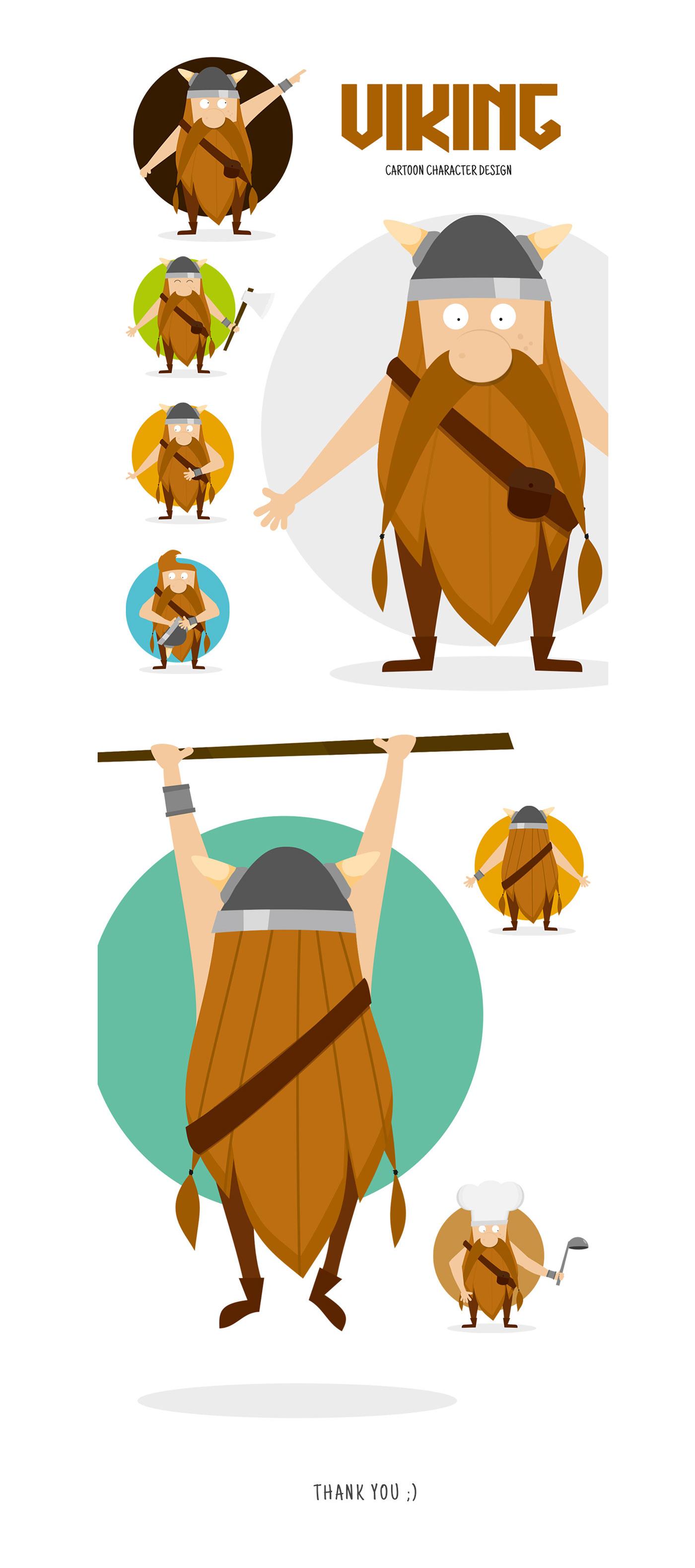 brandhero cartoon Character comic design ILLUSTRATION  medieval viking