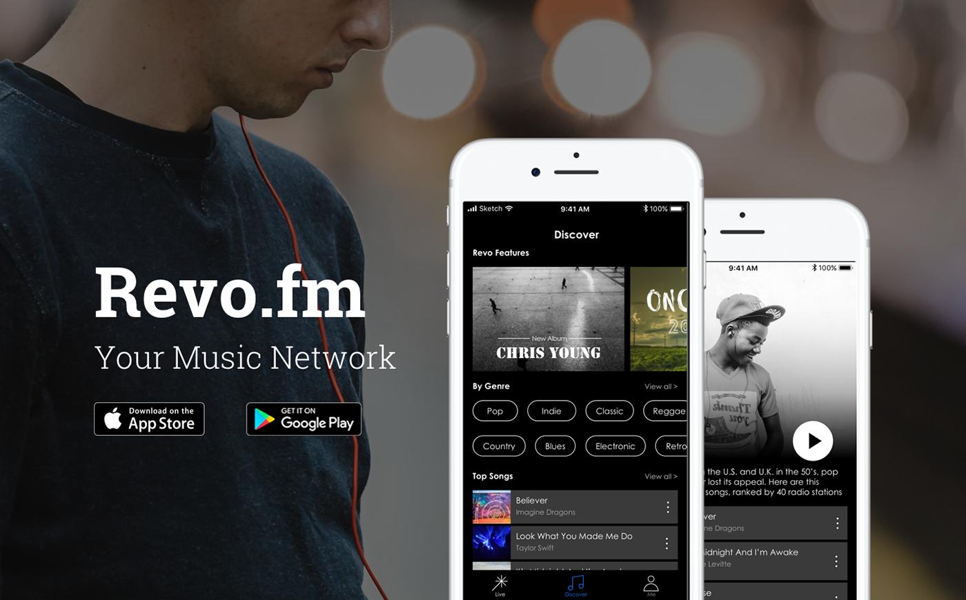 ux Interaction design  UI mobile design visual design music app ios user experience user interface