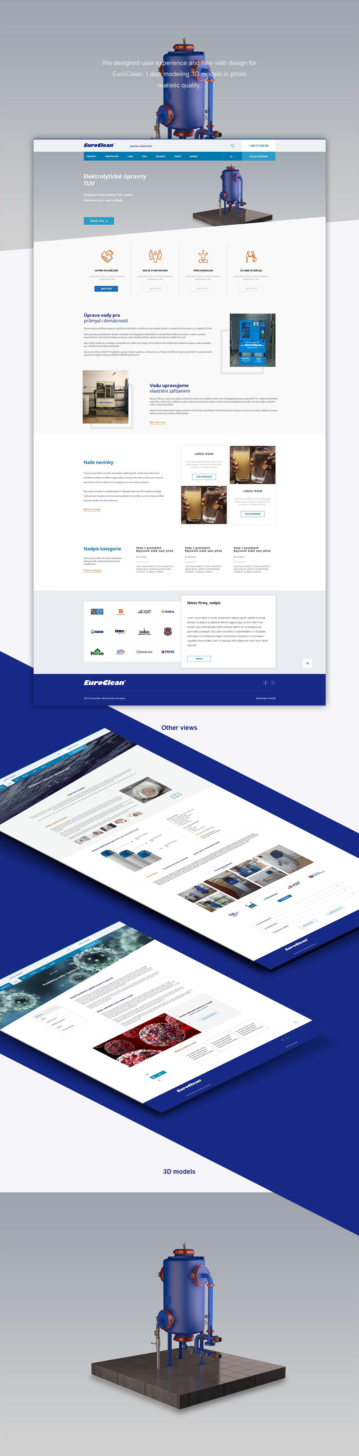 3D design Web graphic freshmill Website prague Webdesign CGI clean