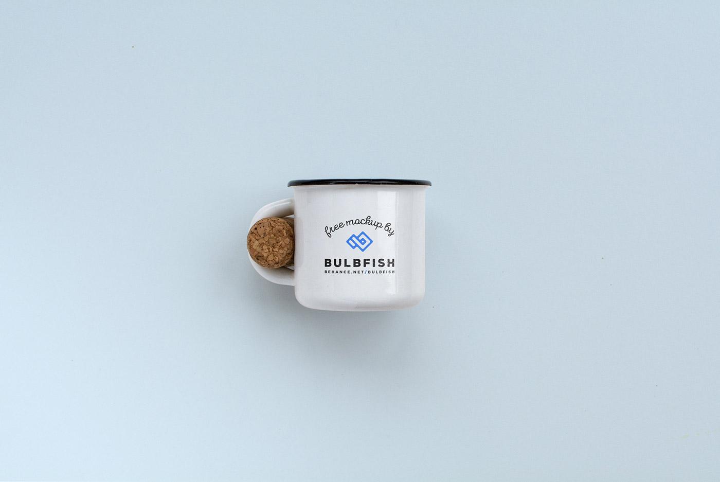 Mockup mock-up free freebie freebies Mug  cup bulbfish metal cork customizable logo coffe