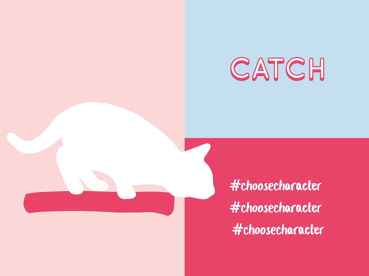Cat campaign valentines charity Packaging poster app ILLUSTRATION  match Character