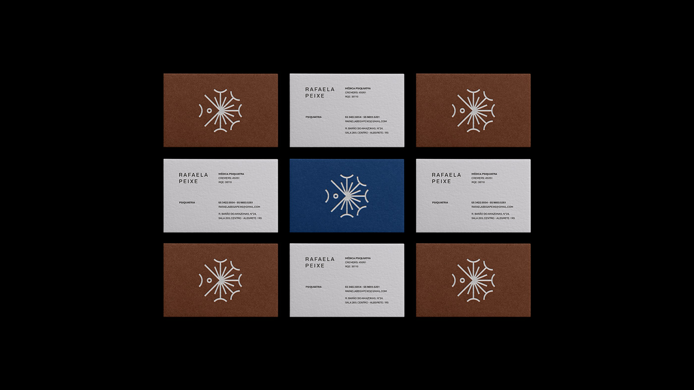brand branding  dandelion fish identity logo psychiatrist psychologist Sun therapy