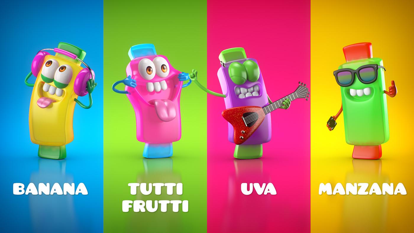 3D ad animacion animation  CGI Character flynn paff gomitas publicidad