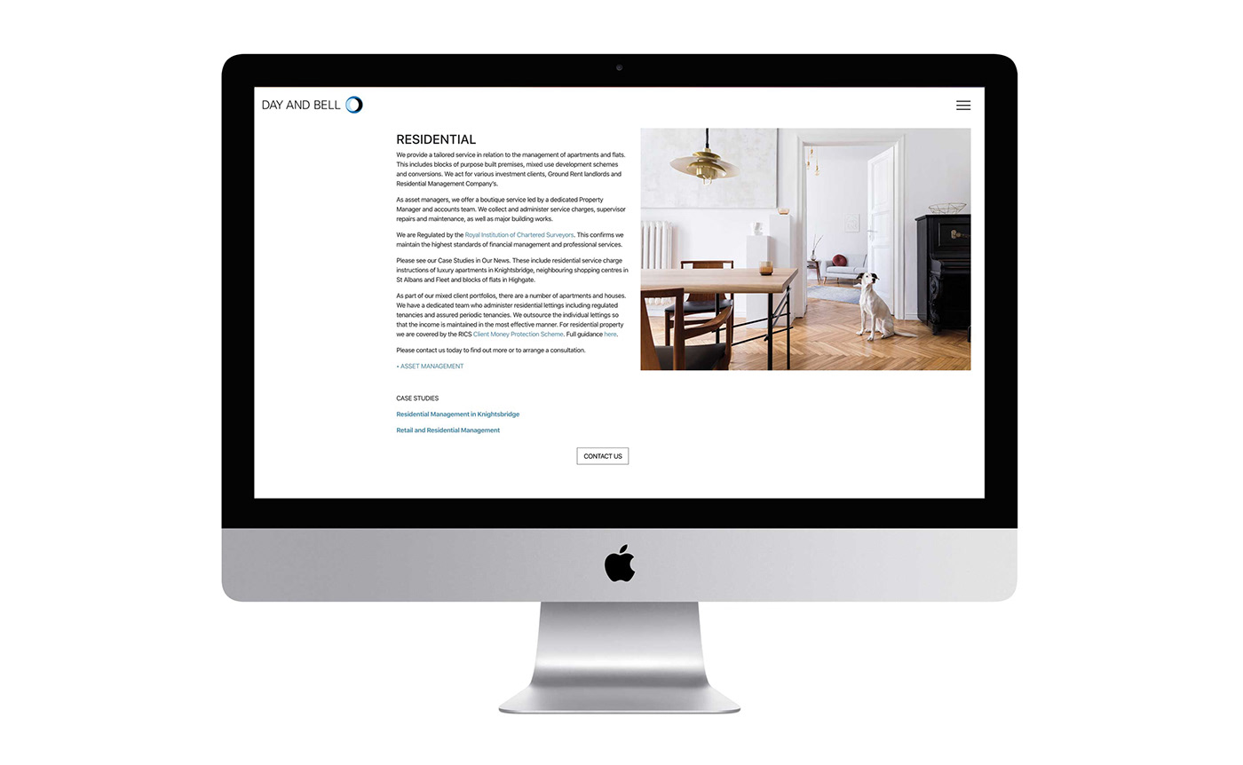 Day and Bell website design