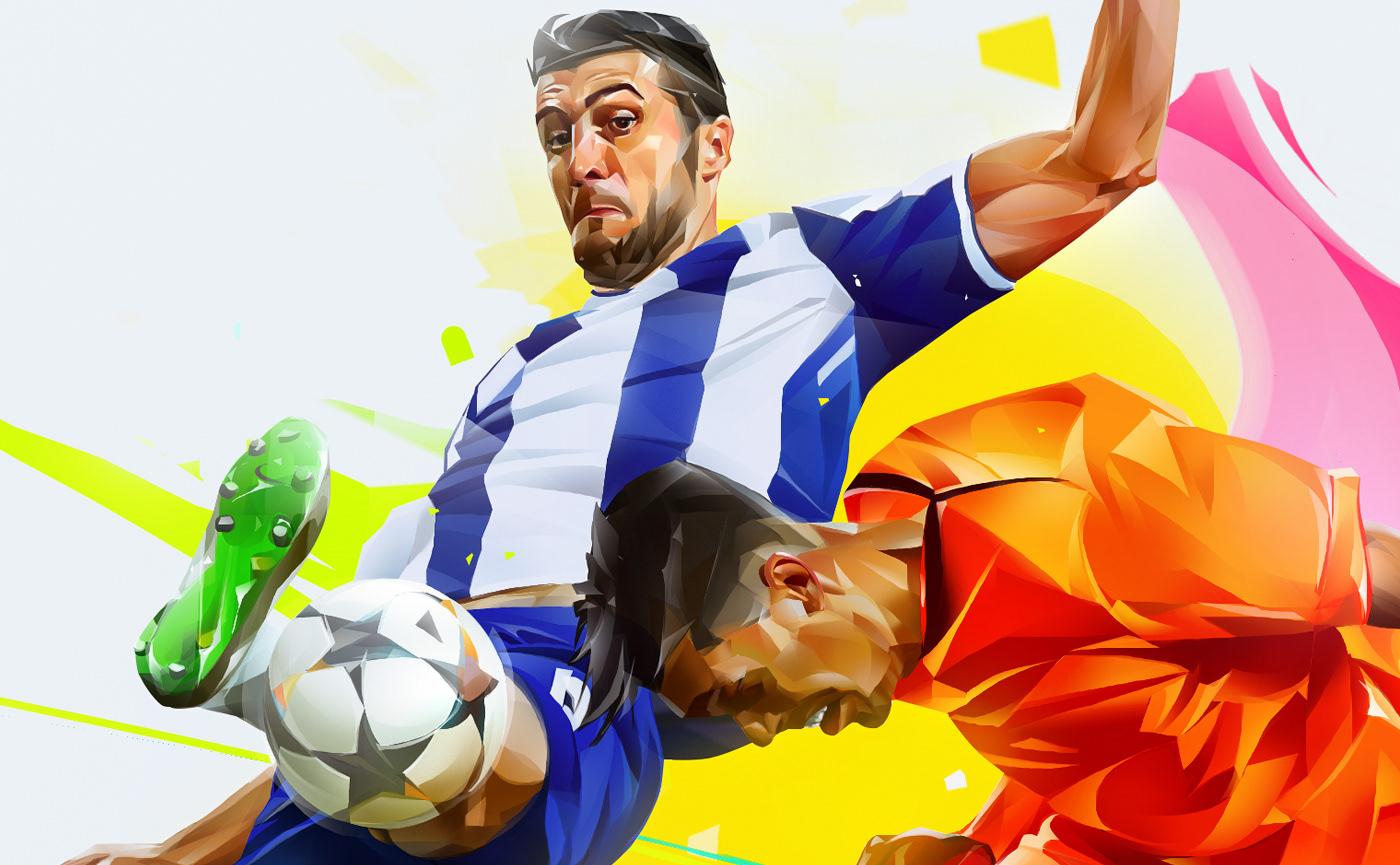 Image may contain: cartoon, soccer and human face