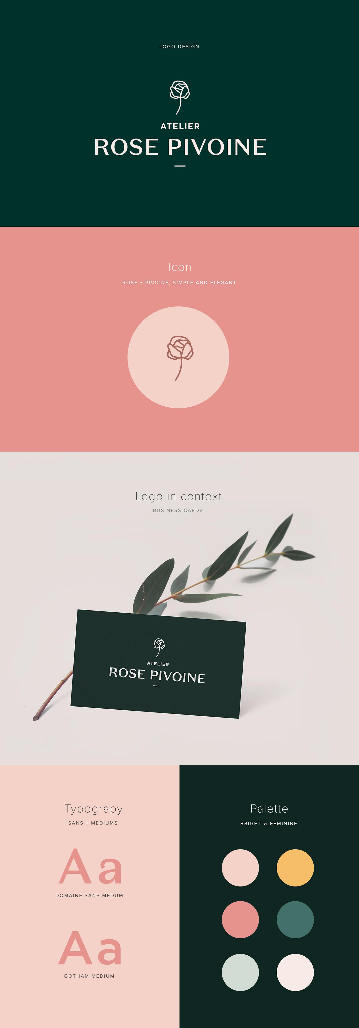 logo branding  Montreal Flowers Fleurs ILLUSTRATION  design vector Freelance