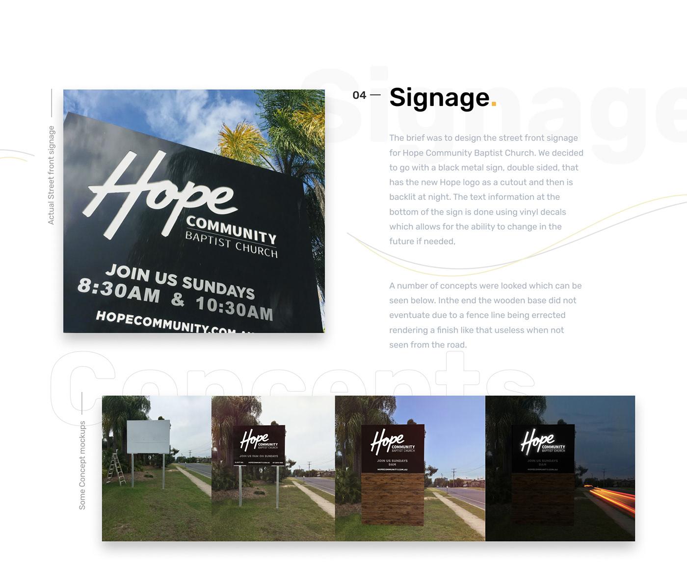 poster post card sign Signage Creative Direction  design graphic design  church branding  logo