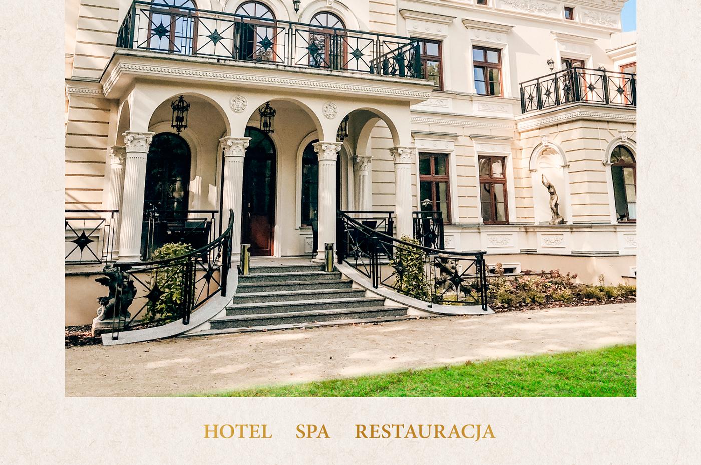 brand identity logo design hotel Spa menu poster