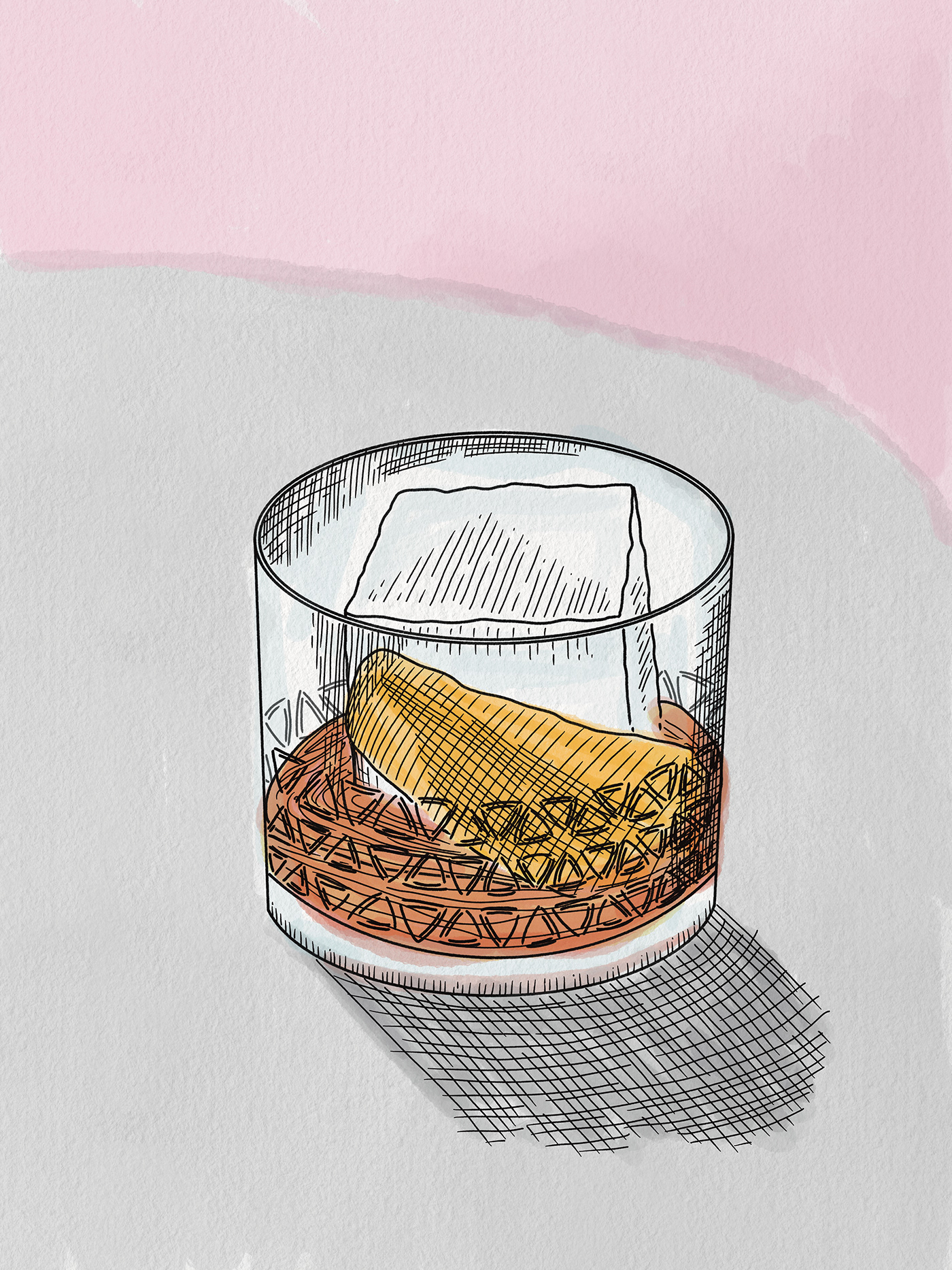 cocktail Negroni Procreate