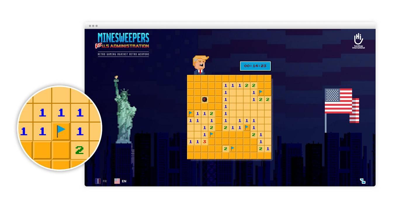 Minesweeper against U.S. Administration.