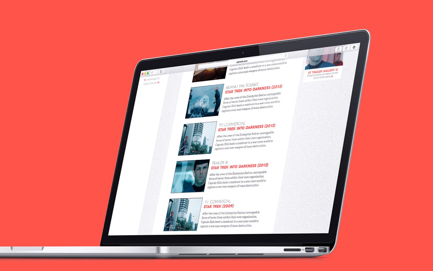 Star Trek Fan Site | Web Design on Behance