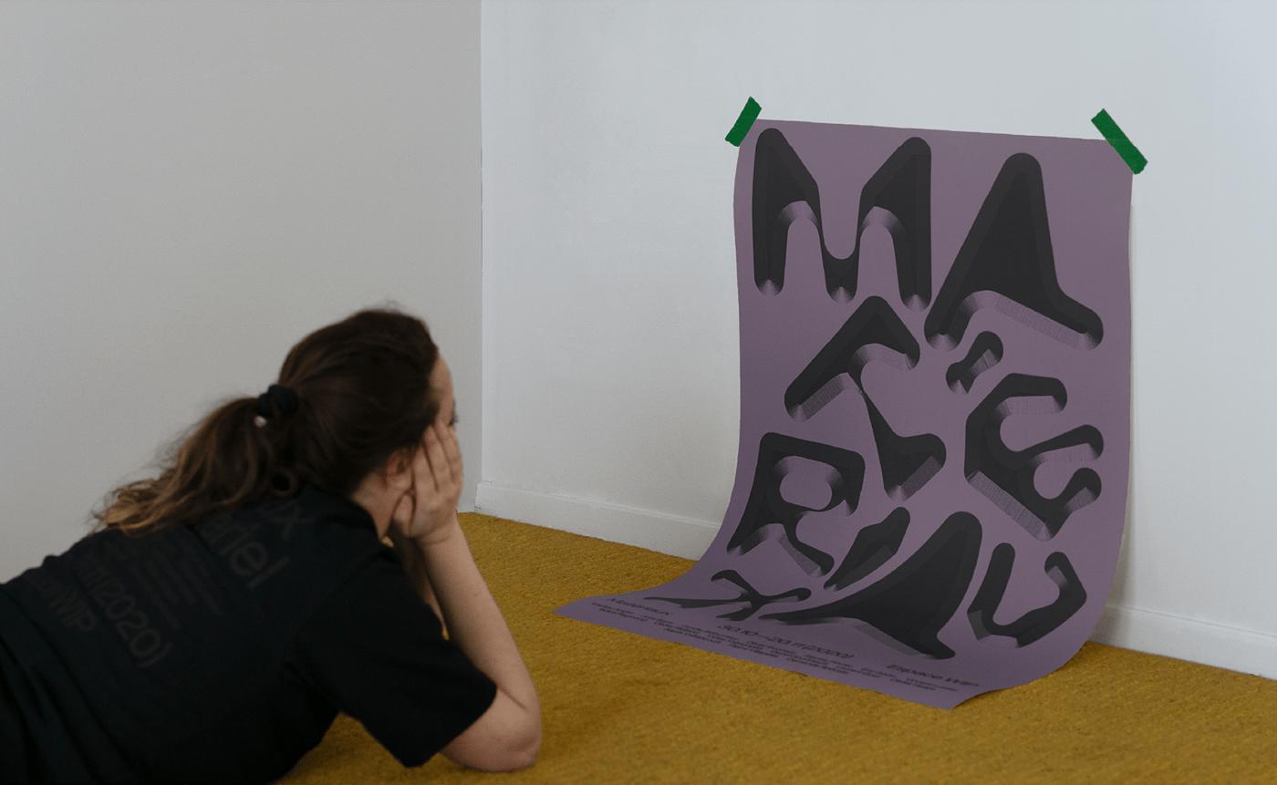 branding  graphicdesign maude mofuego poster typography