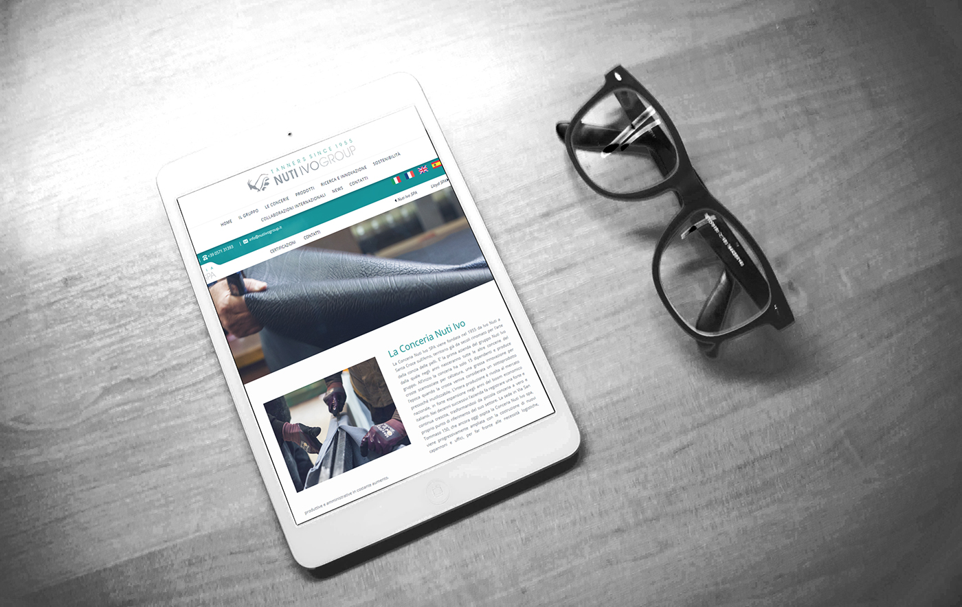 Sito web vetrina responsiva Gruppo Nuti Ivo, tablet
