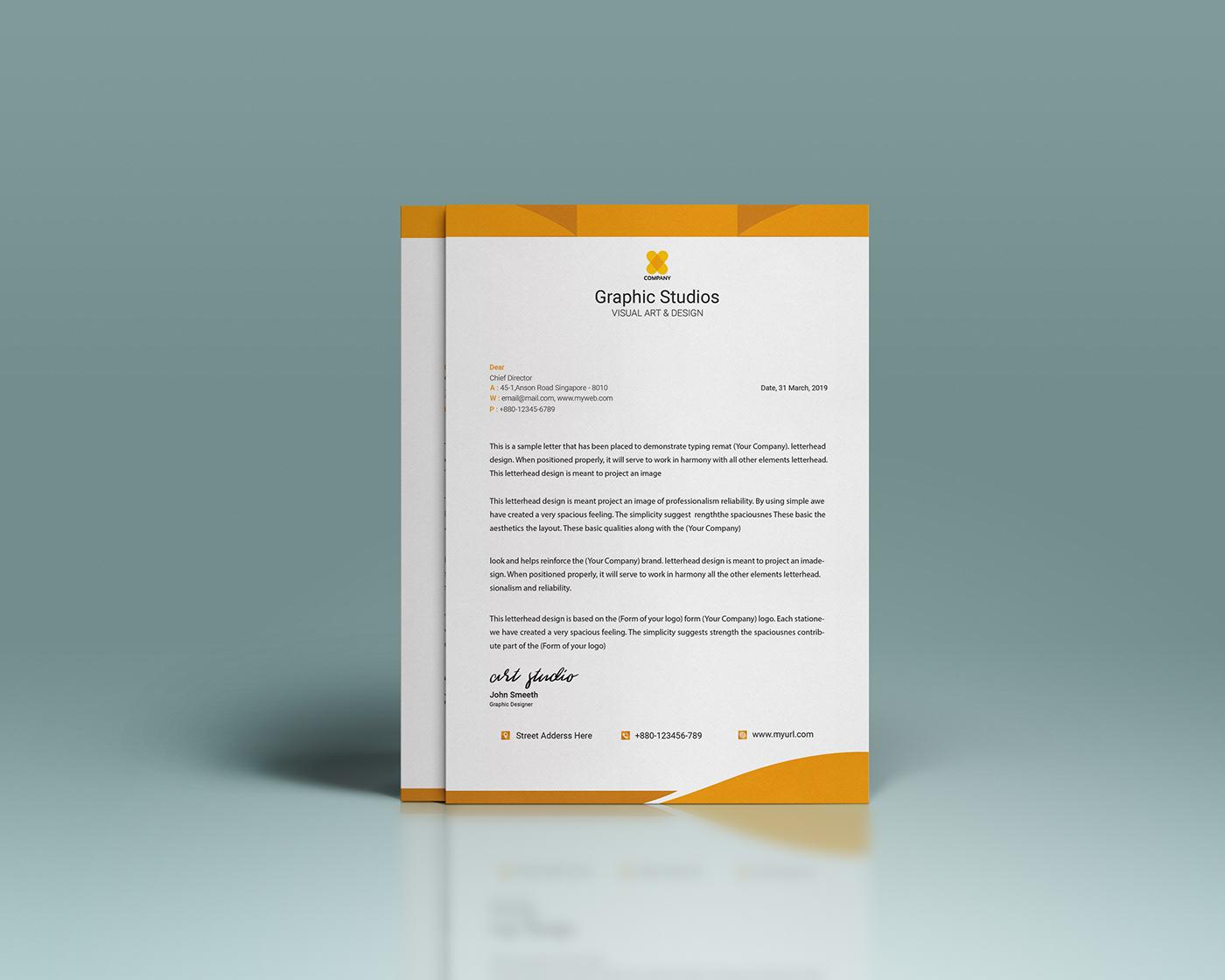 Free Letterhead Design On Behance