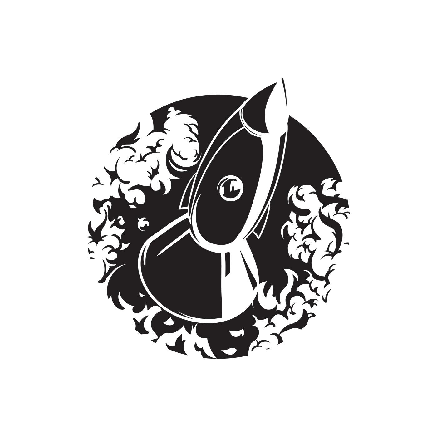 rocket ILLUSTRATION  Illustrator graphic design t-shirt b&w