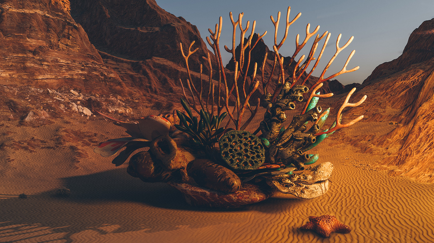 3D biomimicry creative earth environment Landscape Nature postapocalyptic science Sustainable