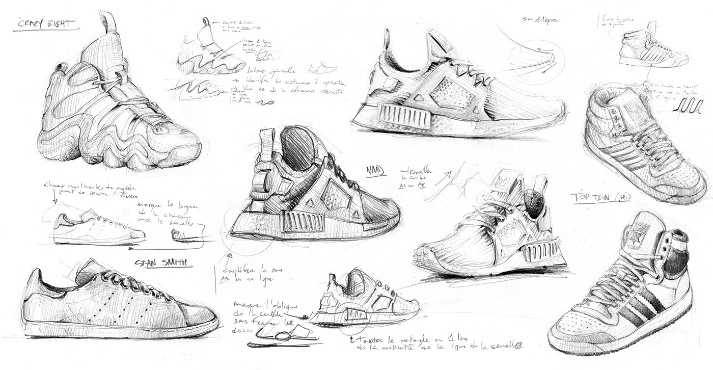 adidas sneakers oneline one line line art Minimalism pattern Headquarters minimal