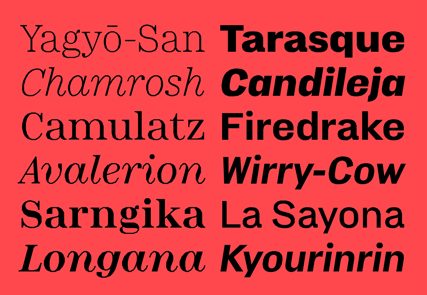 minotaur production type curveLess Typeface font serif sans serif hershey cubism lombardic