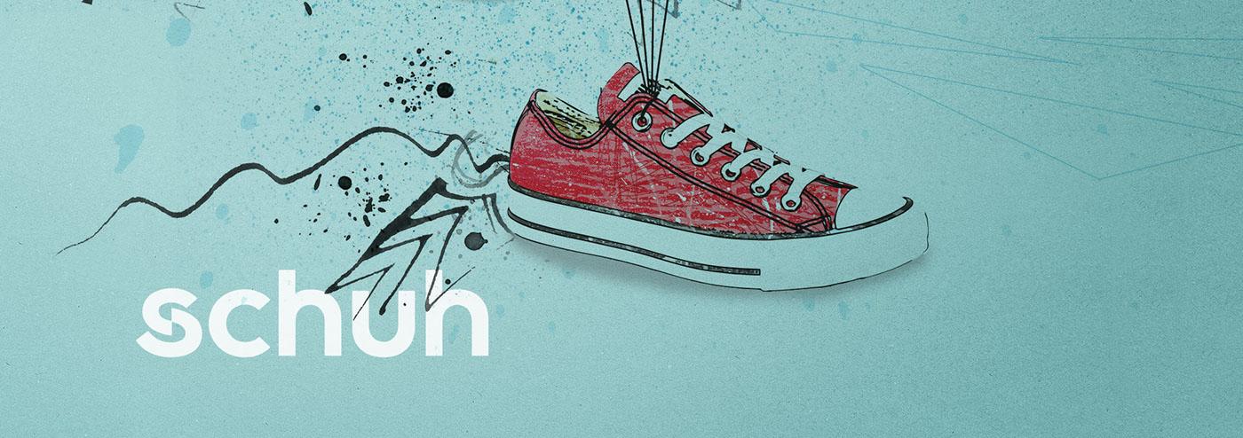 graphic design  Digital Art  mixed media photoshop Illustrator Shop design Retail shoe shop trainers sports