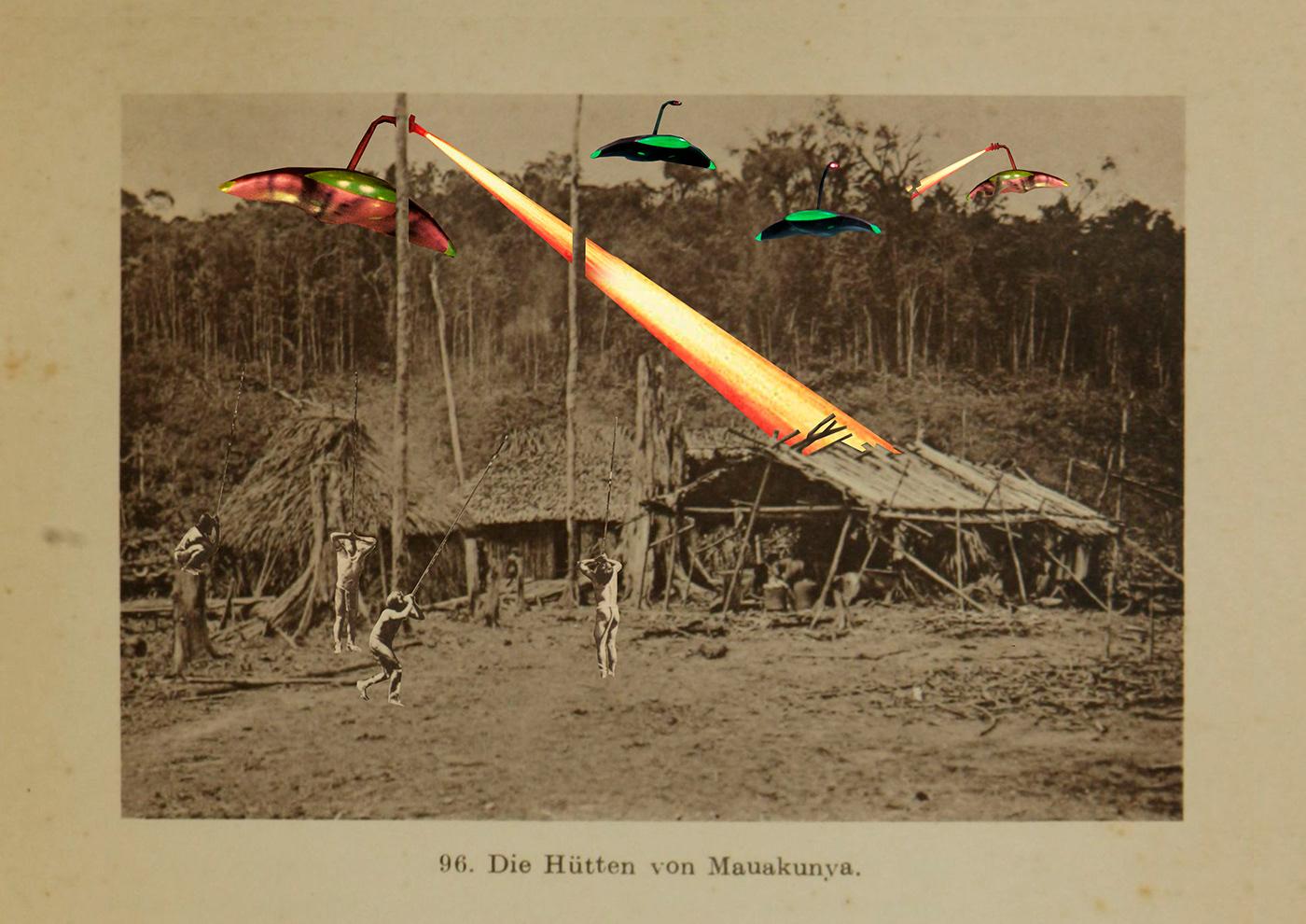 Arte Indígena colagem Denilson Baniwa Filmes