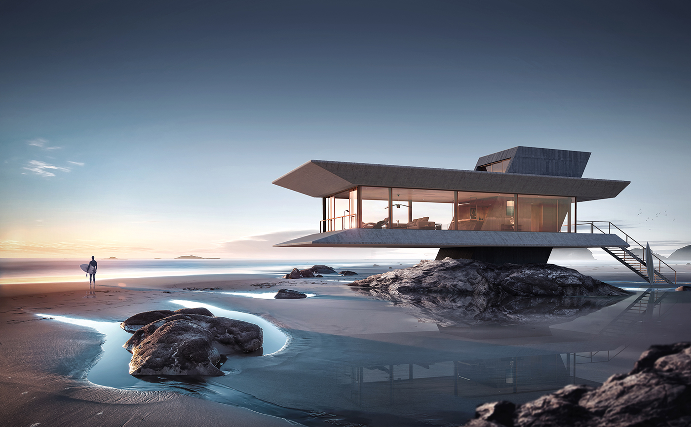 the beach house by atelier monolit on behance