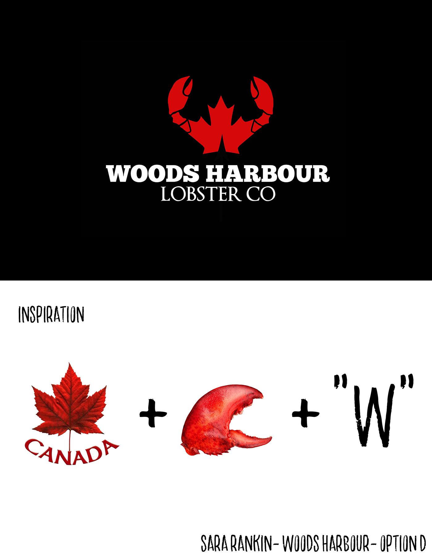 lobster logo nova scotia seafood claws Canada Canadian