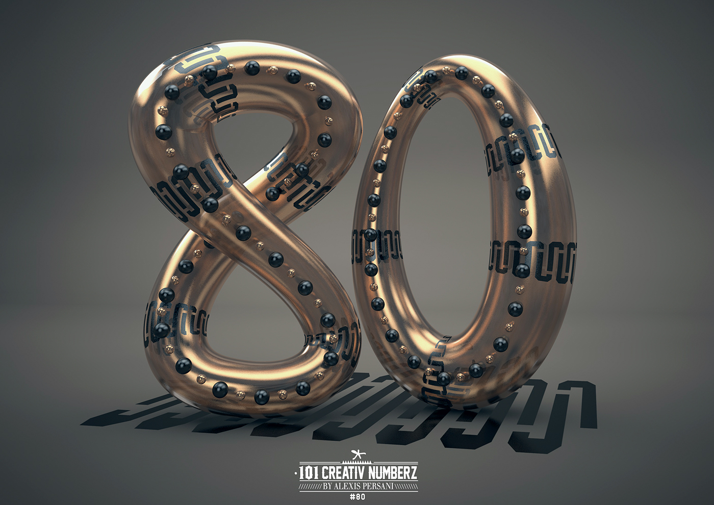 Outstanding 101 Creative Numbers Typography by Alexis Persani 74