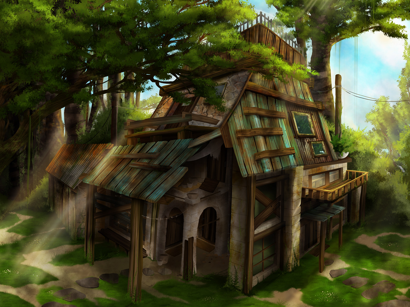 Old House In The Woods On Behance