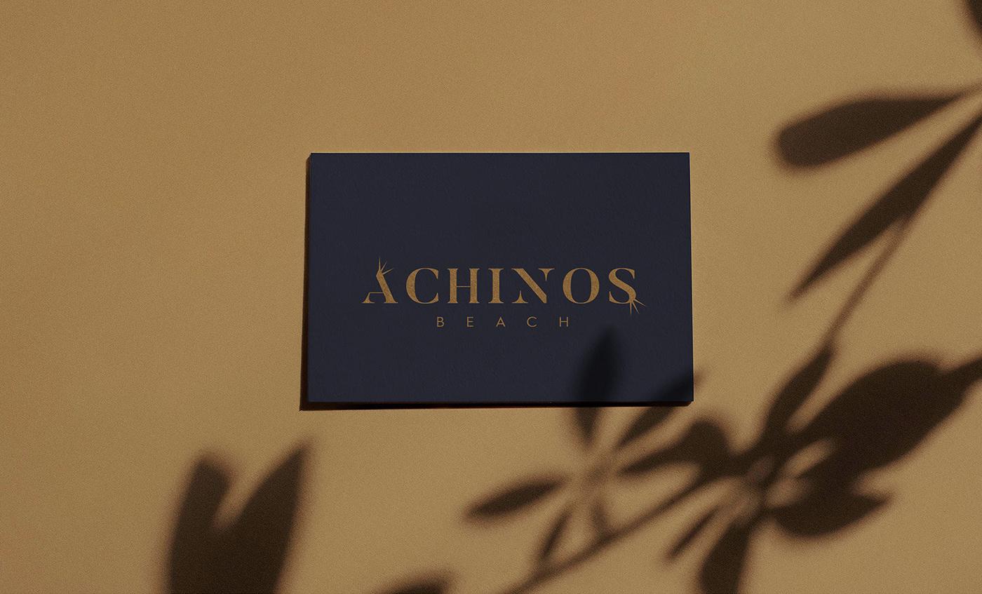 achinos,beach,Branding design,logo,luxury,monogram,restaraunt,urchin, leisure,tourism