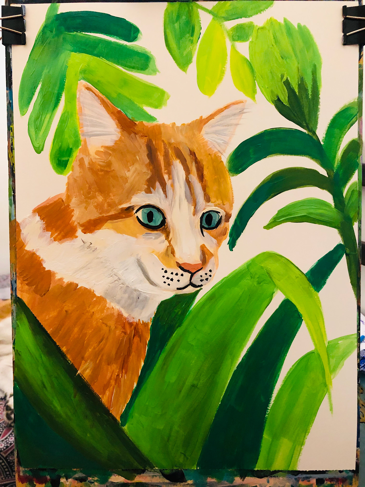 Image may contain: cat, child art and drawing