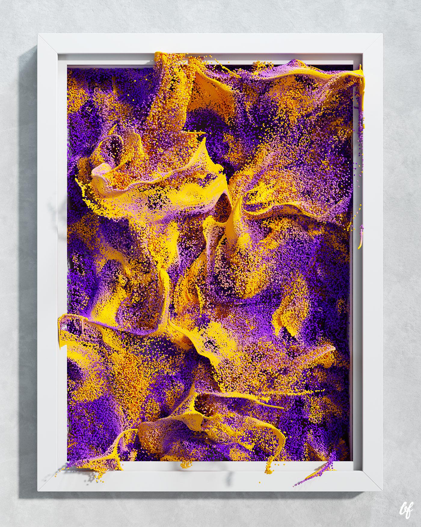 3D art CGI creative design Digital Art  living art particles shapes