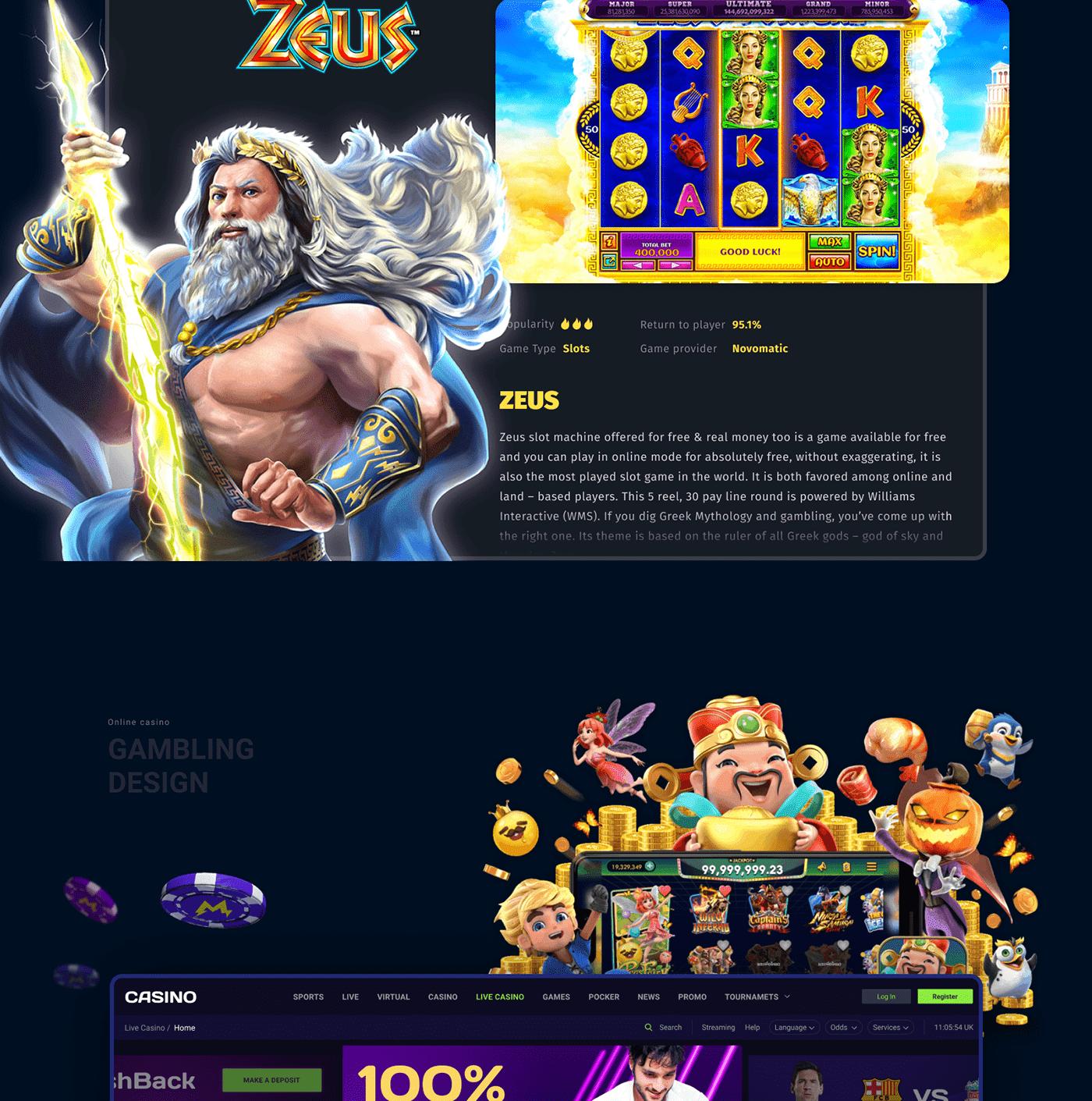 casino design gambling Slots UI