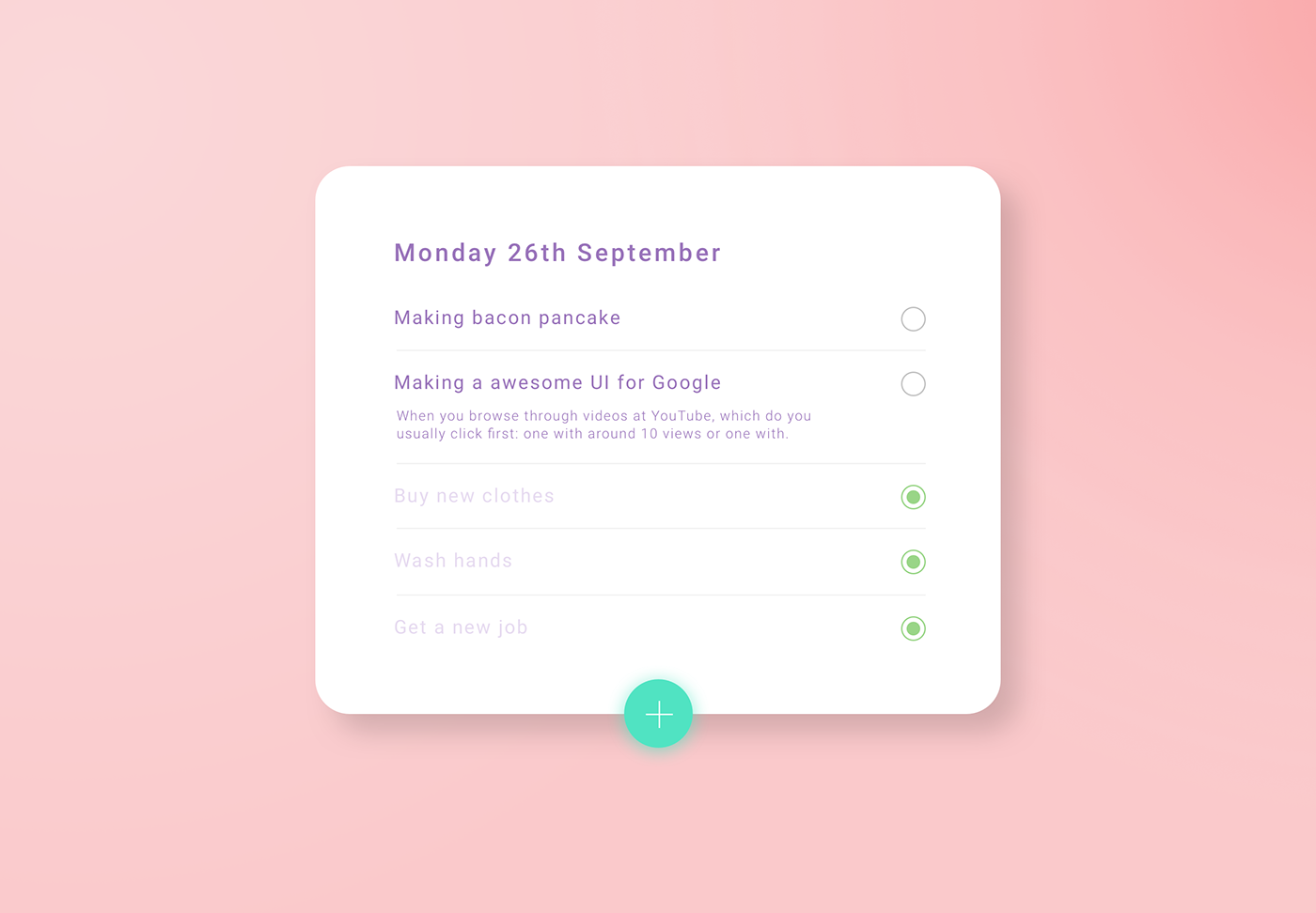 list to do app design material material design daily ui UI ux user interface