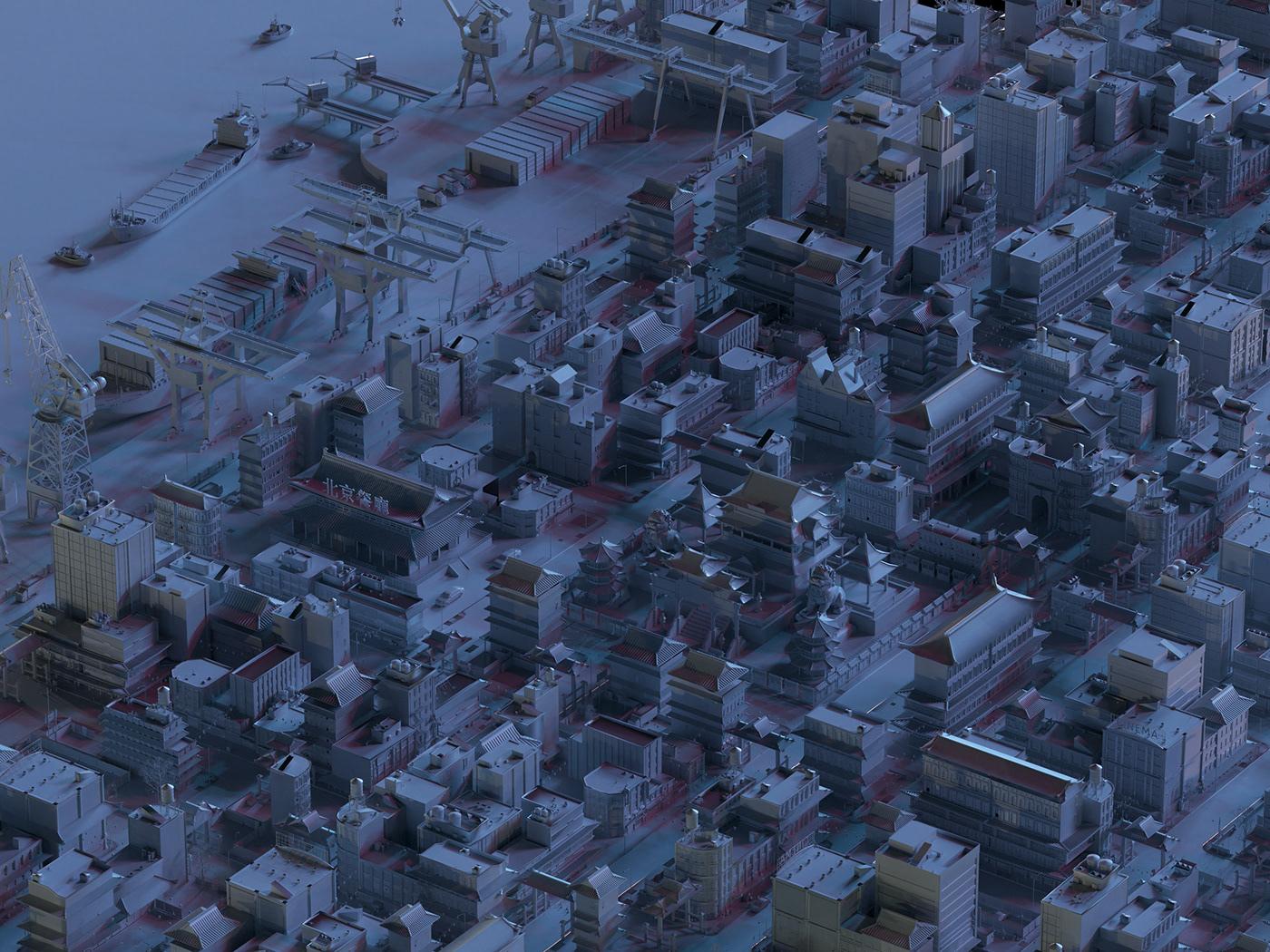 game art corona Render maps locations visualisation 3D