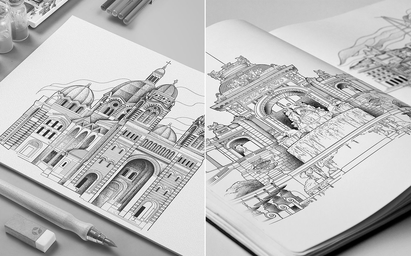 package dotwork marseille chocolate Drawing