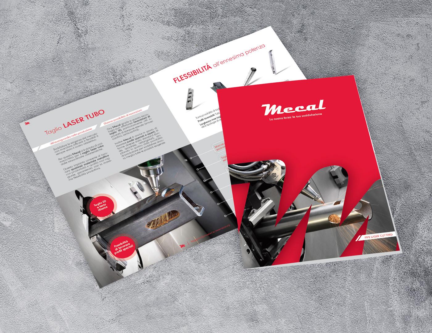 brochure,company profile,graphic design ,laser tubo,mecal,Stand,visual design