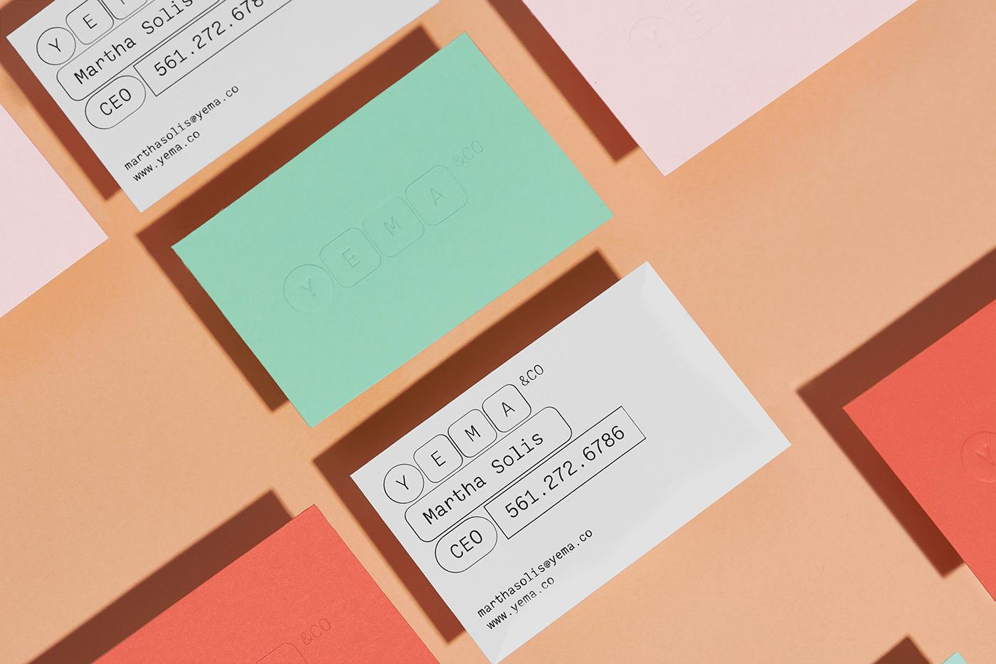 branding  sistema visual language color palette yema graphic sistem tecnology graphic design  good design brand