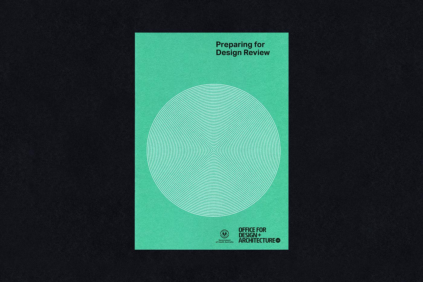 adelaide Australia modernist minimal colorplan white ink grid Printing Booklet Government