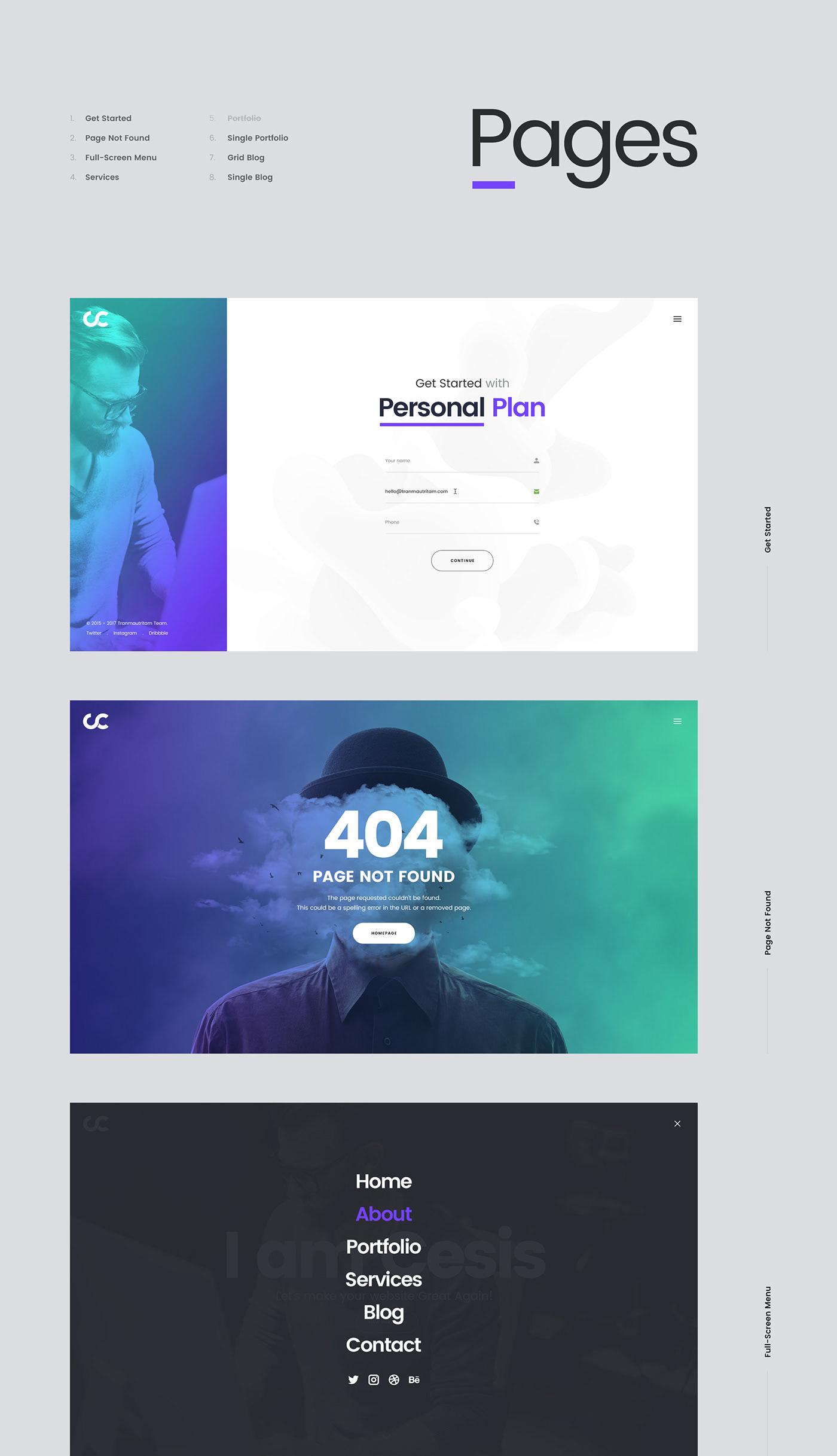 Cesis Creative Agency FREE Website PSD Template on Behance